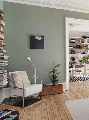 Groene wand | Woonkamer | Pinterest | Wohnzimmer, Wandfarbe und Wohnen