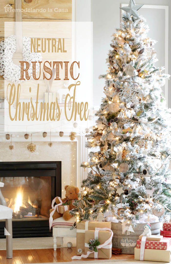 Natural Rustic Christmas Tree Rustic Christmas Tree Christmas Decorations Rustic Simple Rustic Decor