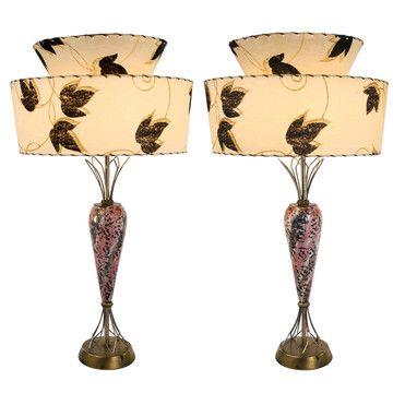 mid century porcelain table lamps