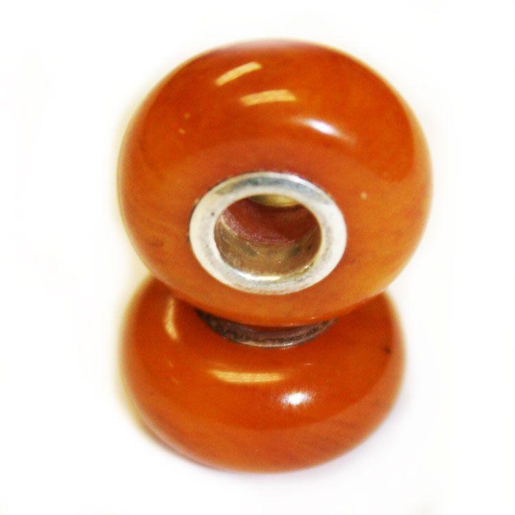 Antique Baltic Amber Pandora style Bead Charm