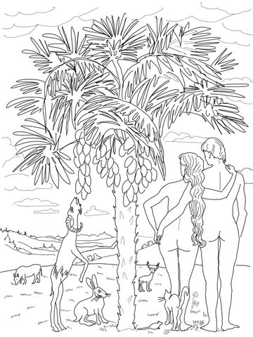 6th Day of Creation coloring page from Creation story