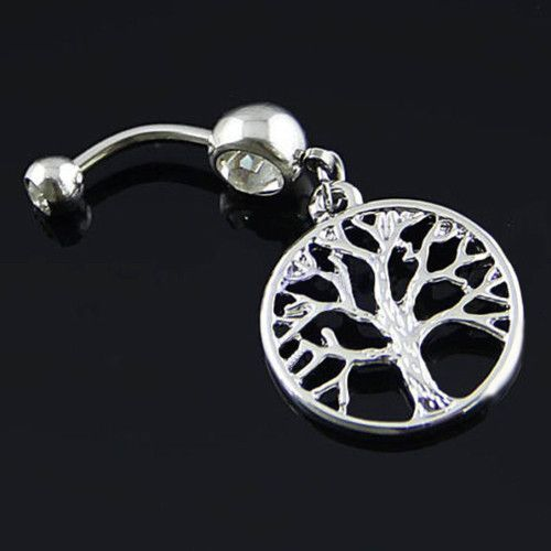 Antiqued Tree of Life Belly Ring
