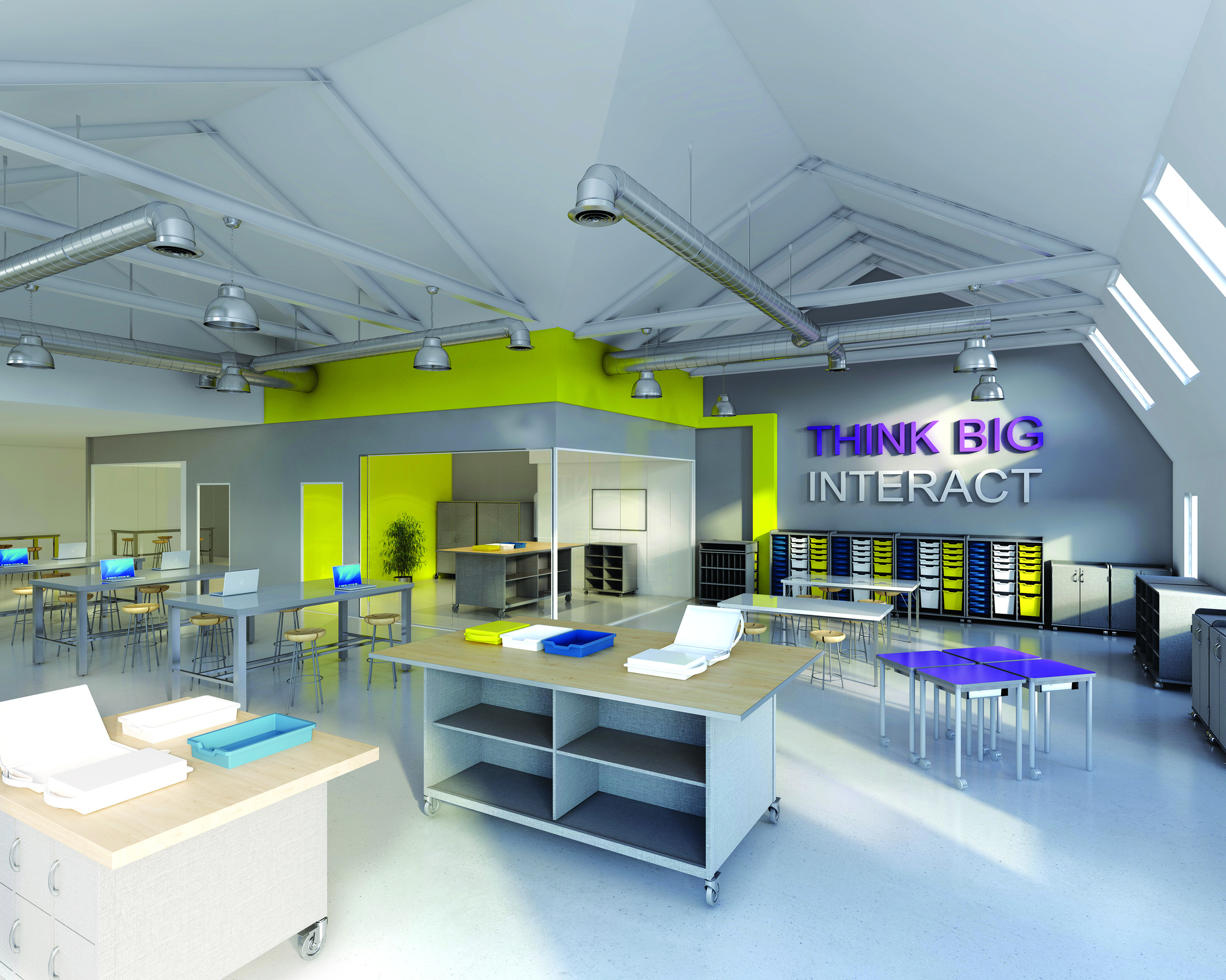 Maker space furniture by fleetwood group crec academy of for School blueprint maker