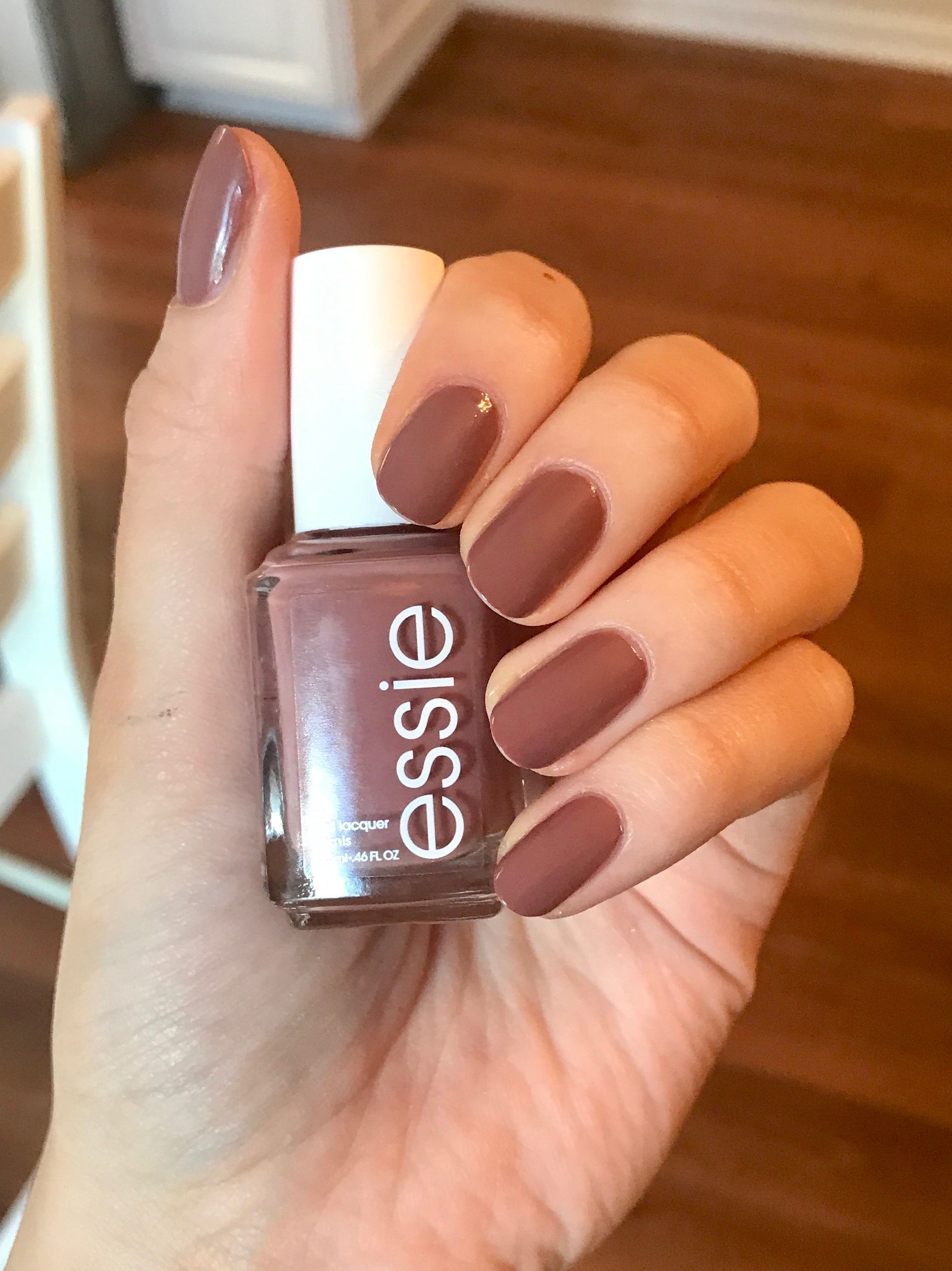 Fall Nails Essie Clothing Optional Perfect Fall Neutral Nail Color Neutral Nail Color Manicure Colors Fall Manicure