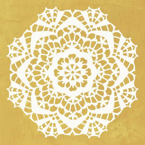 Wall Art Motif Stencil Lace Diana Doily by royaldesignstencils | For ...