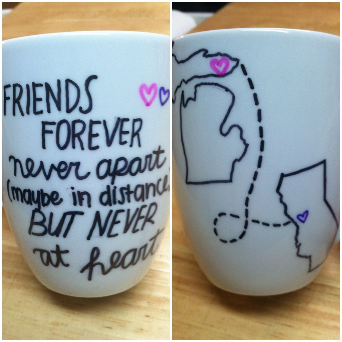 Great idea not that i ever want a friend to move away for A perfect gift for a friend