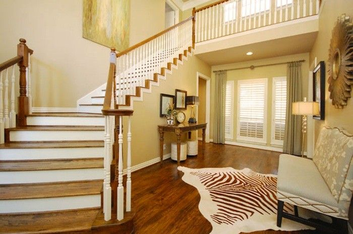 Beautiful Entry Foyer with Cowhide Rug | Living Rooms | Pinterest ...
