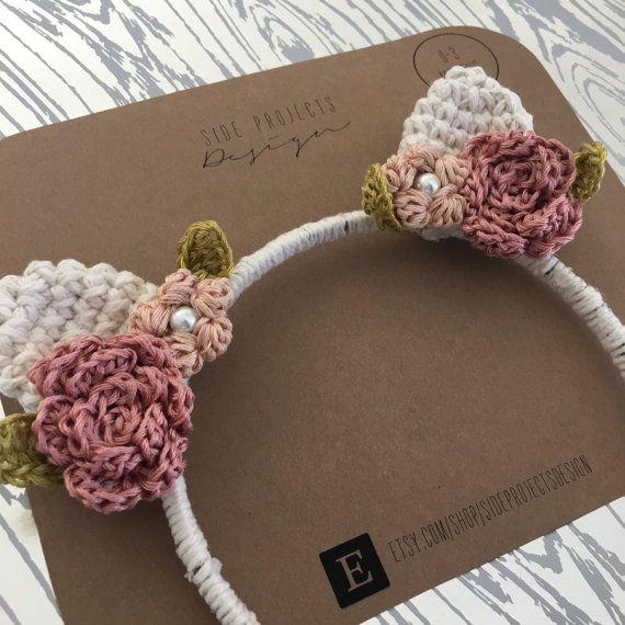 Cervatillo Floral venda del ganchillo / / por sideprojectsdesign ...