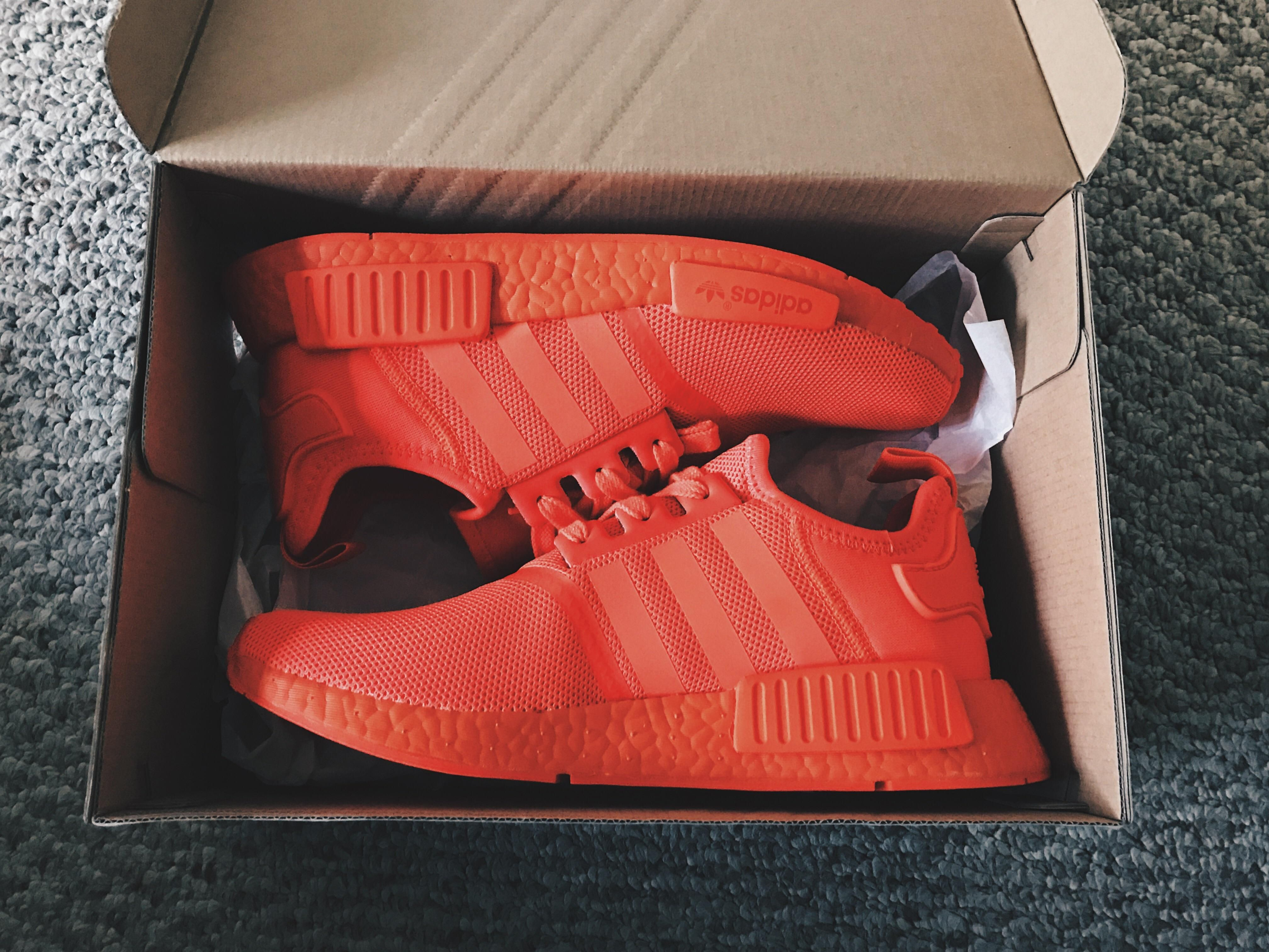 Solar Red NMDs the color is so bright. Can t wait to blind people with these a9b20349d