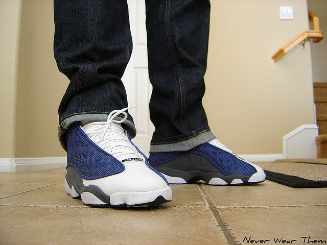 Jordan Retro 'Flint' 13's blue and ...