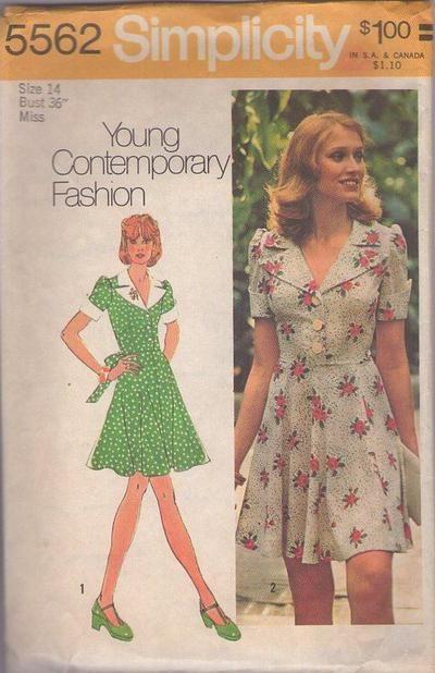 Simplicity 5562 Vintage 70s Sewing Pattern FOXY Marcia Brady Bunch ...