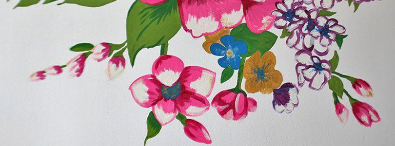 peindre fleurs SUR MUR EXTERIEUR - Recherche Google AMENAGEMENTS - quelle peinture pour bois exterieur