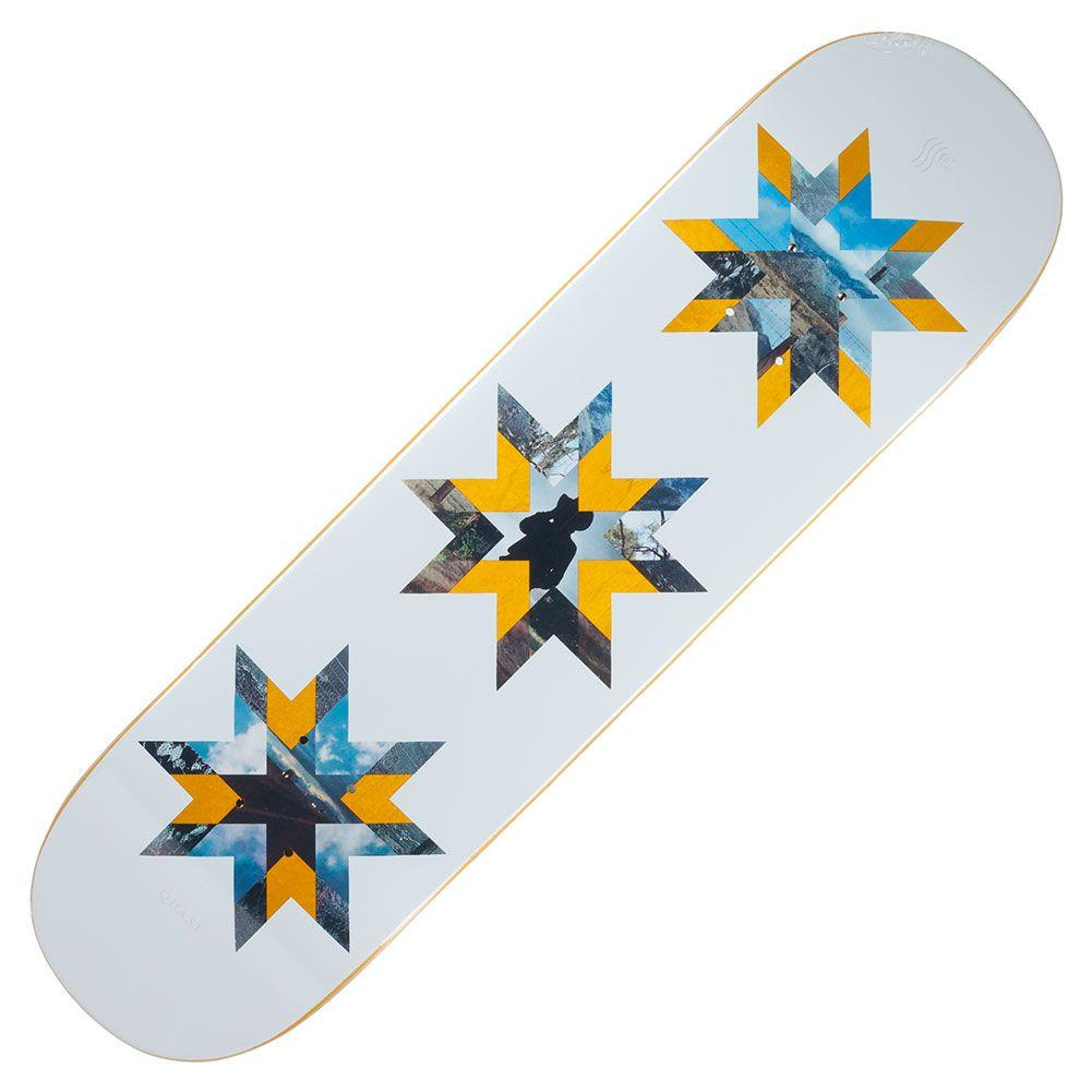 Quasi Gilbert Crockett Quilt Deck 8.25″ White