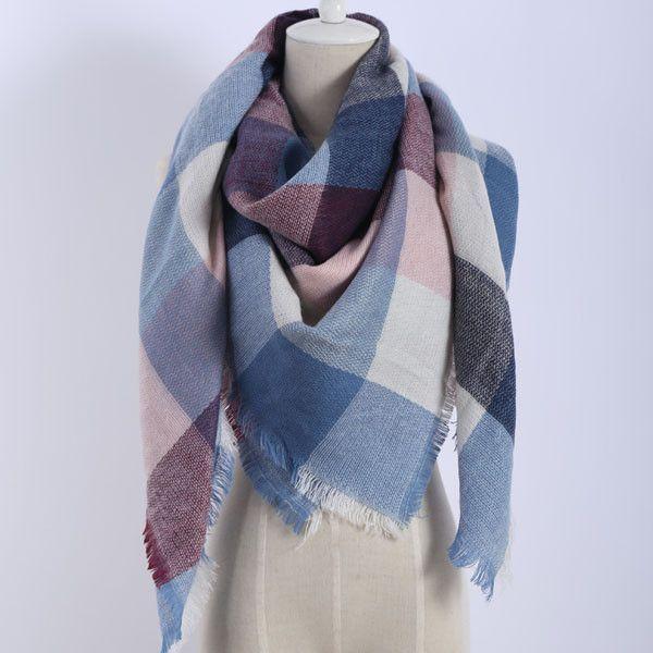 Ladies Grey Tartan Soft Winter Scarfs brand New One Size