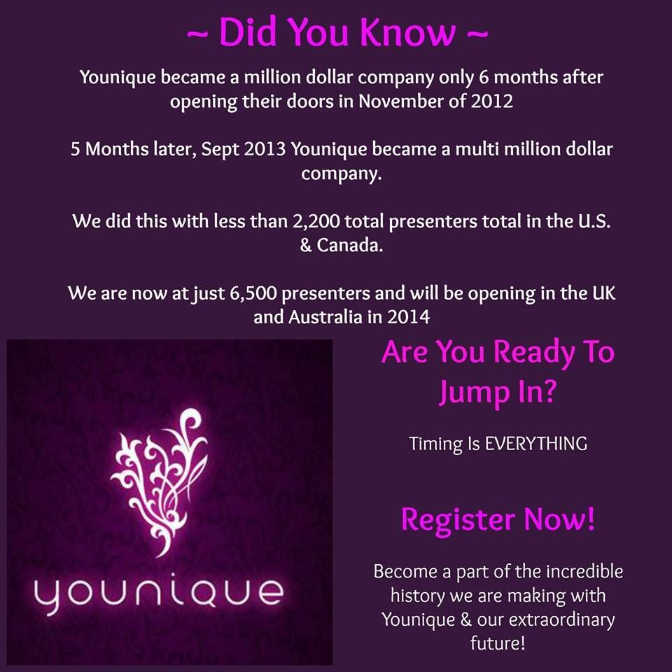 Did you Know? Brilliant!!! Join my TEAM in 2014! Younique