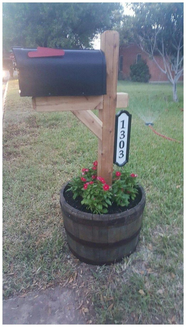 46 Adorable Mailbox Ideas That Will Give Your Guests A Fantastic First Impression Frontyardlandscaping Mailbox Mailbox Landscaping Diy Mailbox Mailbox Garden