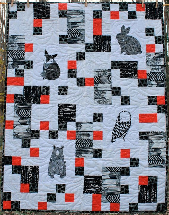 Black And White Baby Quilt Quilts Ive Made Pinterest Babies