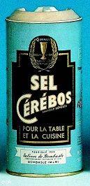 Sel Cérébos ( modèle d'emballage de 1962 à 1968) #épicerie #vintage #1960s #sel