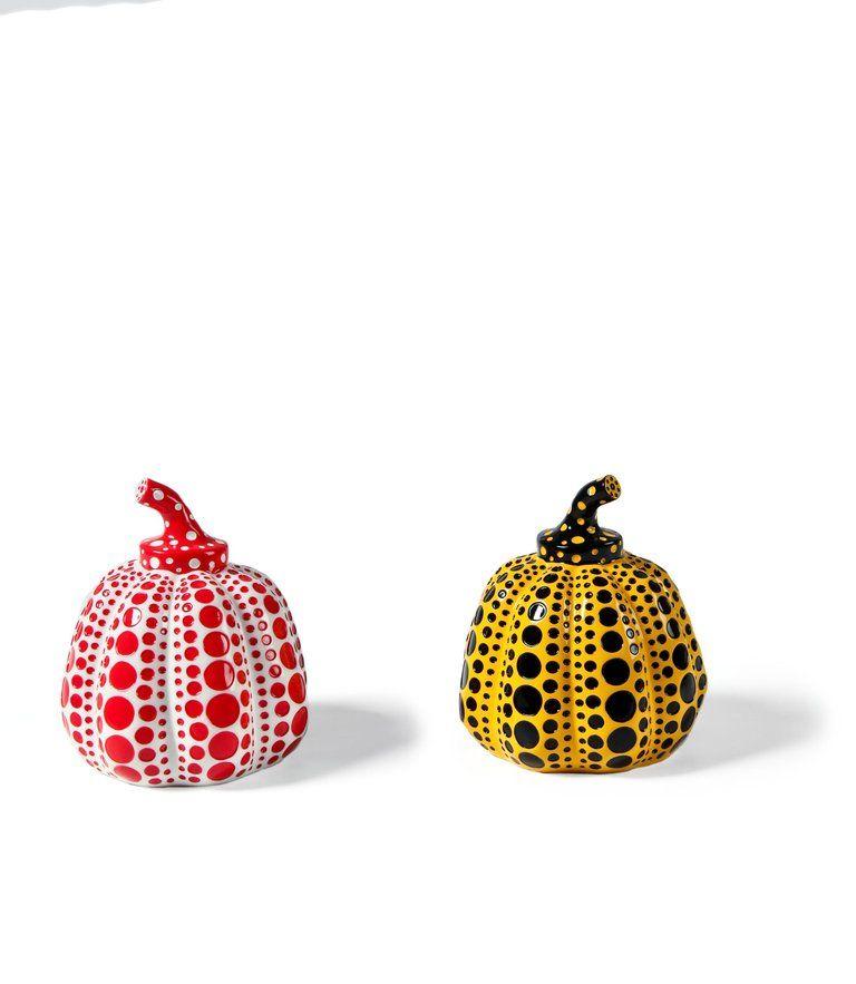 Yayoi Kusama Sculpture Object Pumpkin Red w// box Japan Artist