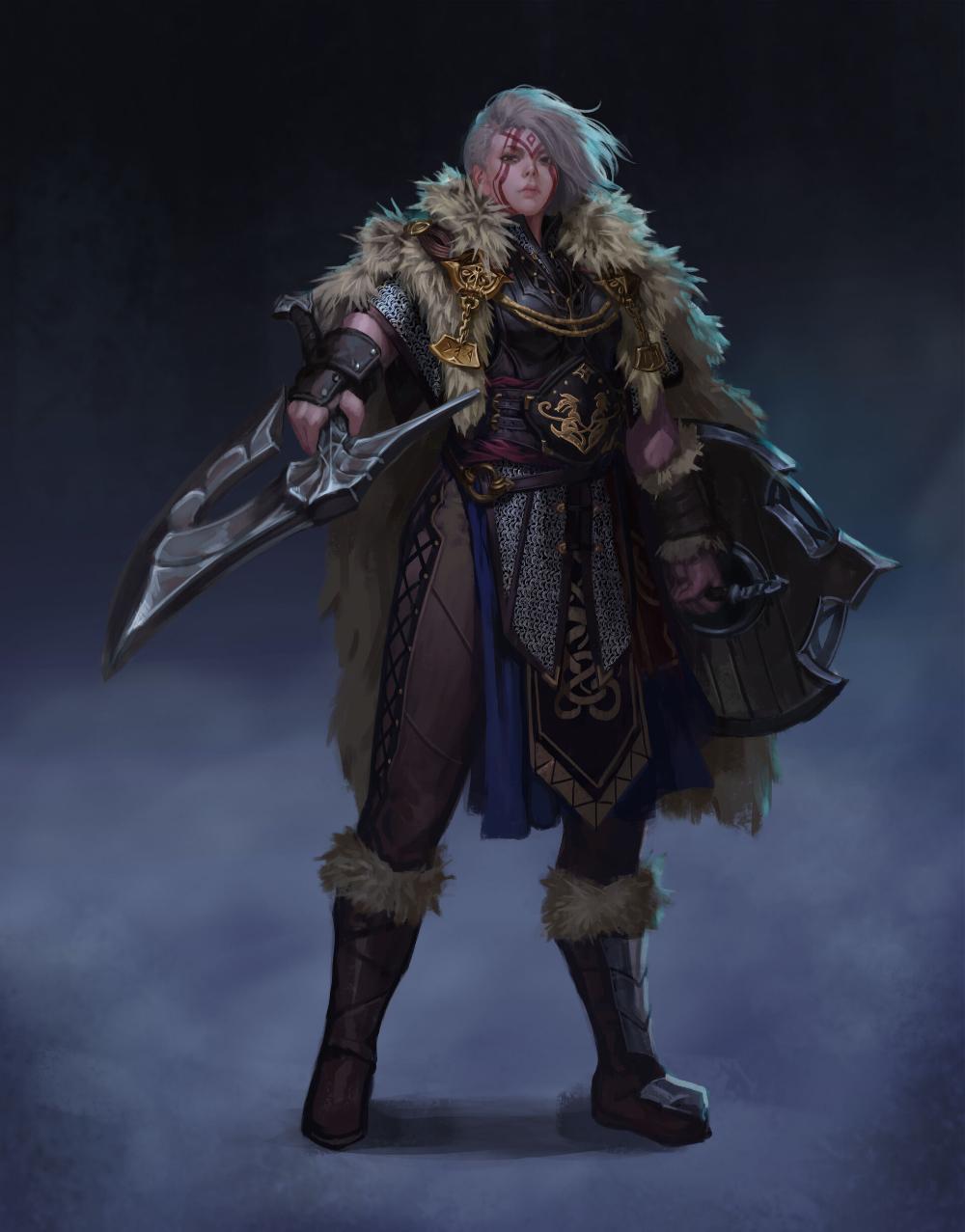 Artstation Black Desert Guardian Concept Fanart Kwon Jaekyung In 2020 Concept Art Characters Viking Character Character Design Inspiration