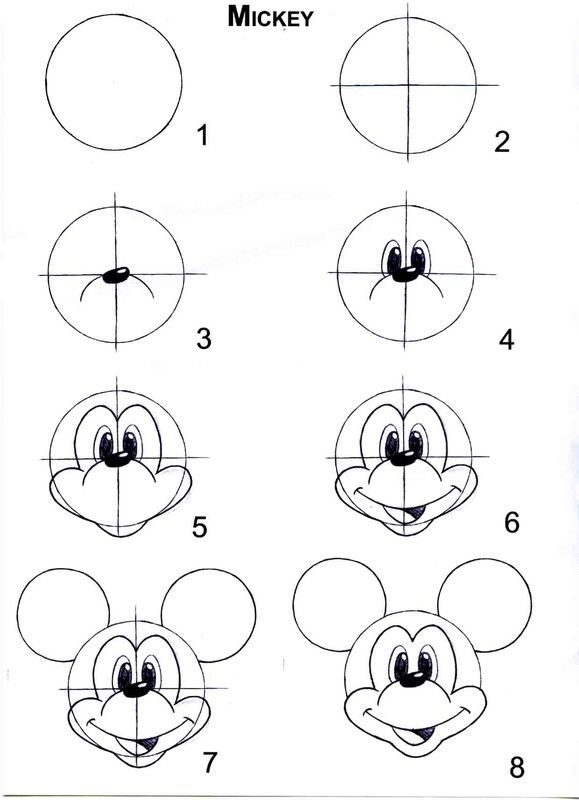 apprendre a dessiner mickey disney pinterest. Black Bedroom Furniture Sets. Home Design Ideas