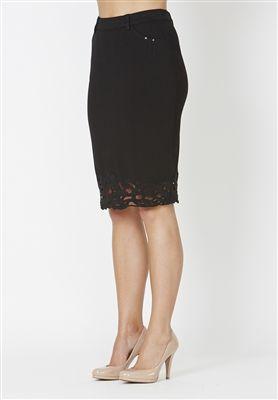 Plus Size Skirt/ Curvy Fashion  Signature heavyweight stretch super-soft jersey fabric