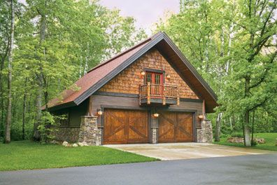 The Home of the Man Cave. A Detached Craftsman Style Garage | Garage ...