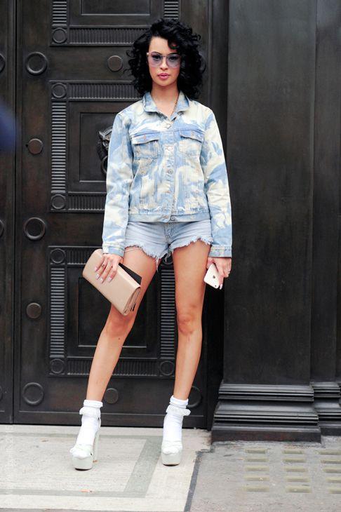 London – Rainy Milo. #LFW, @rainymilo, #Celebrity, #Denim, #England, #Fashion, #FW15, #LCM, #London, #Moda, #Mode, #RainyMilo, #Singer, #Street, #StreetStyle, #Style, #UK, #Woman, #Women Photo © Wayne Tippetts