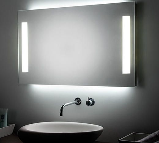 Espejo con luz ambiental led e iluminacion frontal t5 - Luz para banos ...