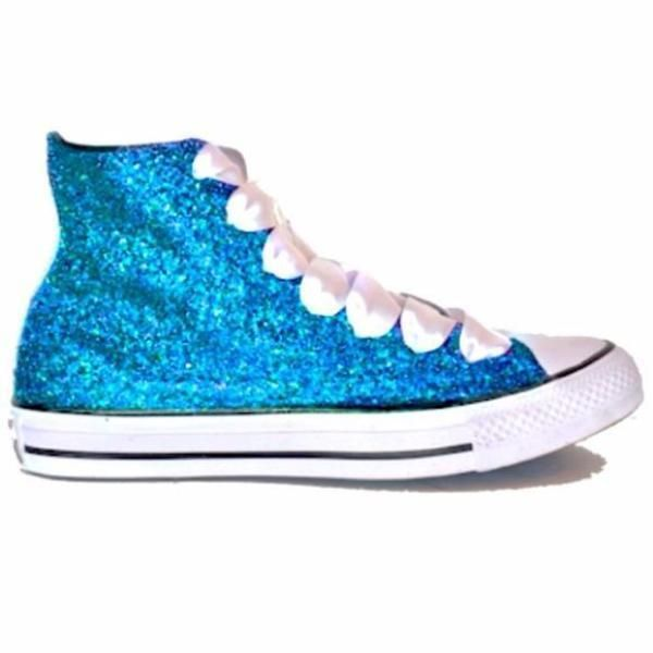 Womens Sparkly Glitter Converse All