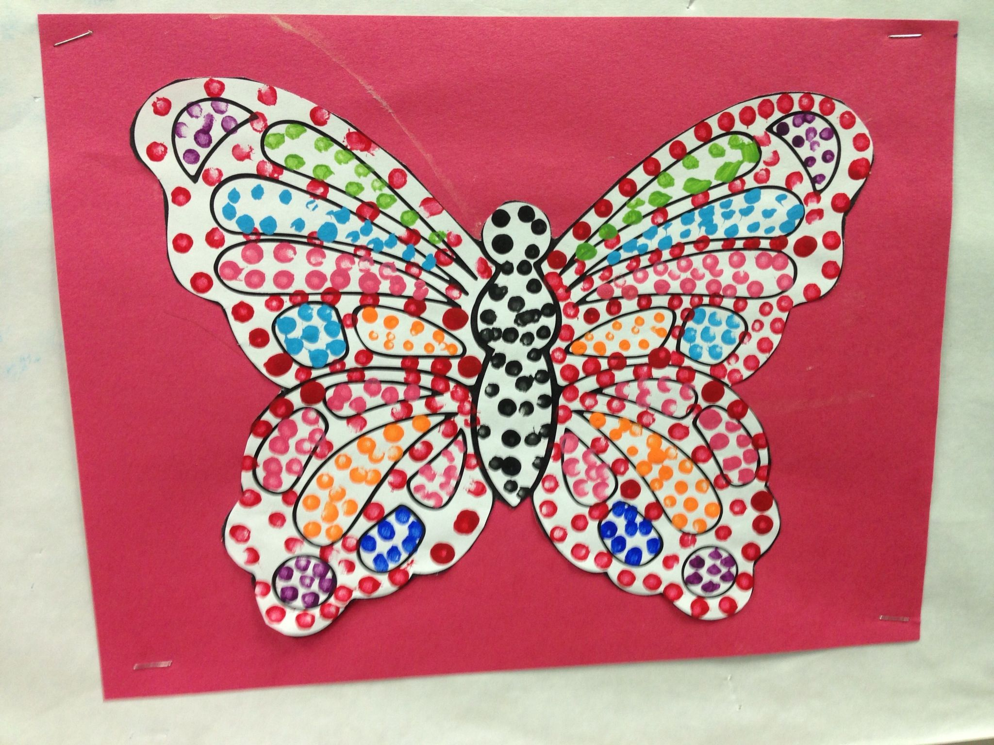 Qtip Painting On A Butterfly Colouring Page Teaches