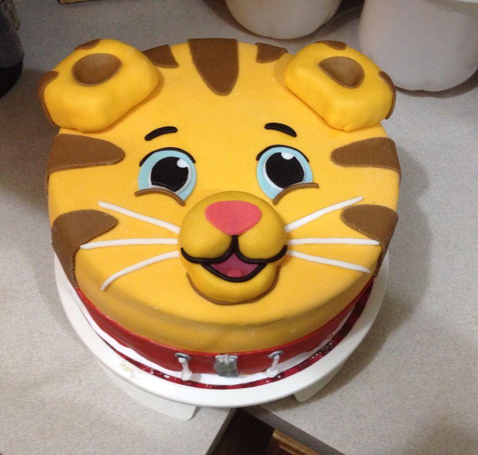 Stupendous Daniel Tiger Birthday Cake Daniel Tiger Birthday Cake Tiger Funny Birthday Cards Online Elaedamsfinfo