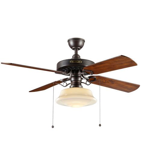 Heron ceiling fan with light kit aged bronze fumed oak blades opal low profile schoolhouse shade