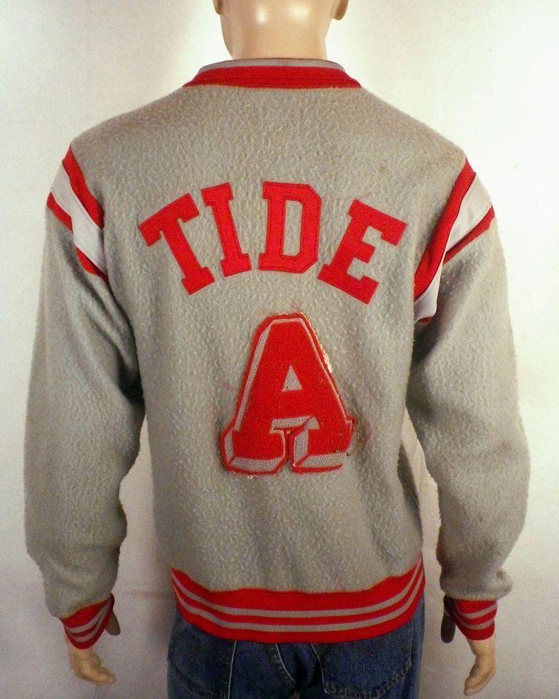 Vtg 50s Champion Alabama Crimson Tide Letterman Jacket Warmup Namath Bryant Era Vintage Clothing Men Alabama Crimson Tide Men S Coats And Jackets [ 1000 x 800 Pixel ]