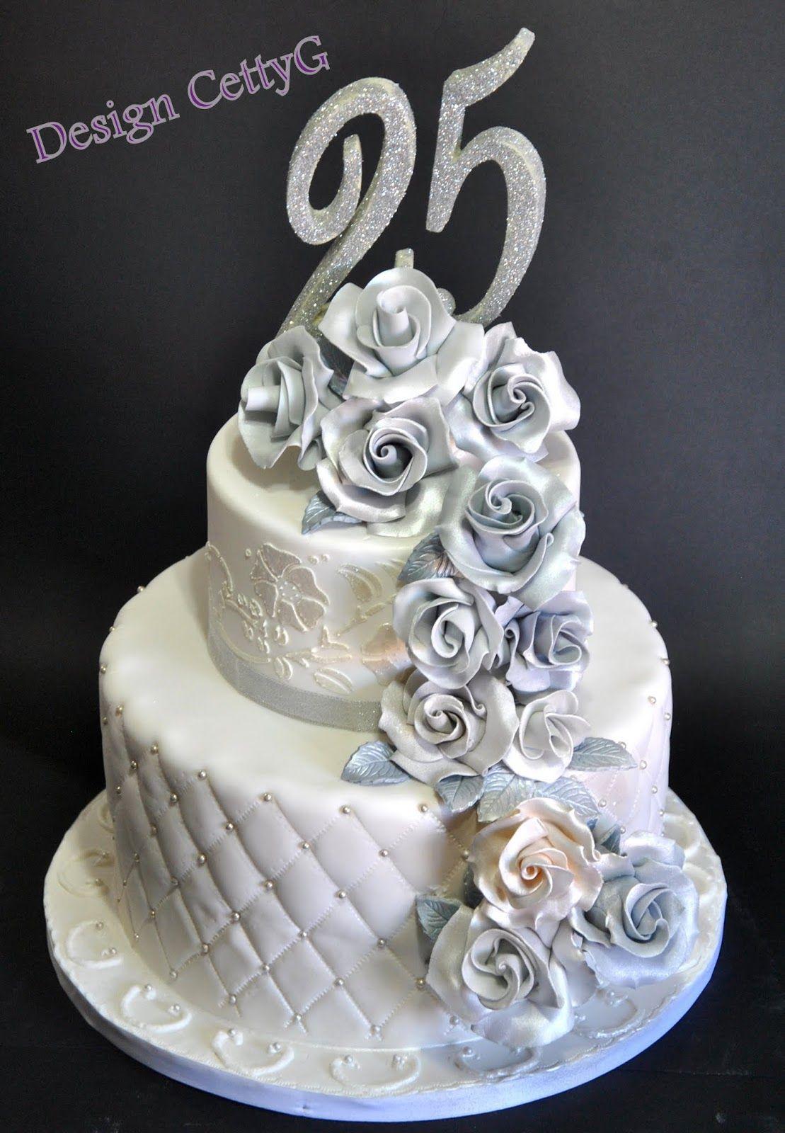 Foto torte 25ⱑnniversario di matrimonio