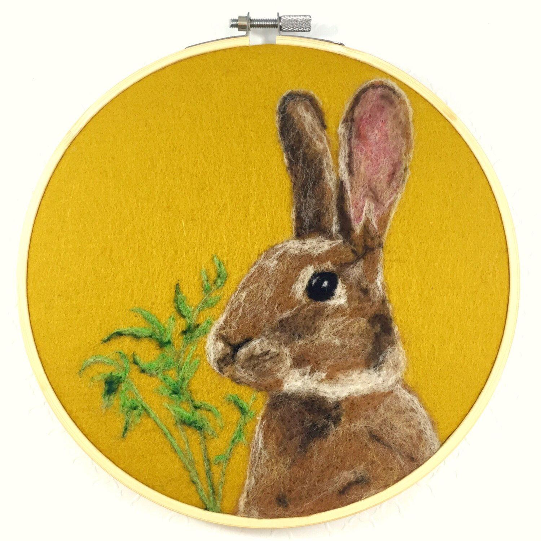 Rabbit wool painting