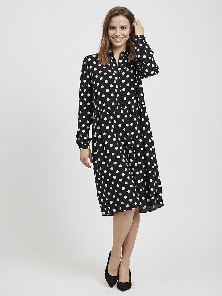 Keine Verkaufssteuer neuartiger Stil großhandel online Vila Midi-Kleid ''Dotla'' in Schwarz - 42%   Größe 36 ...