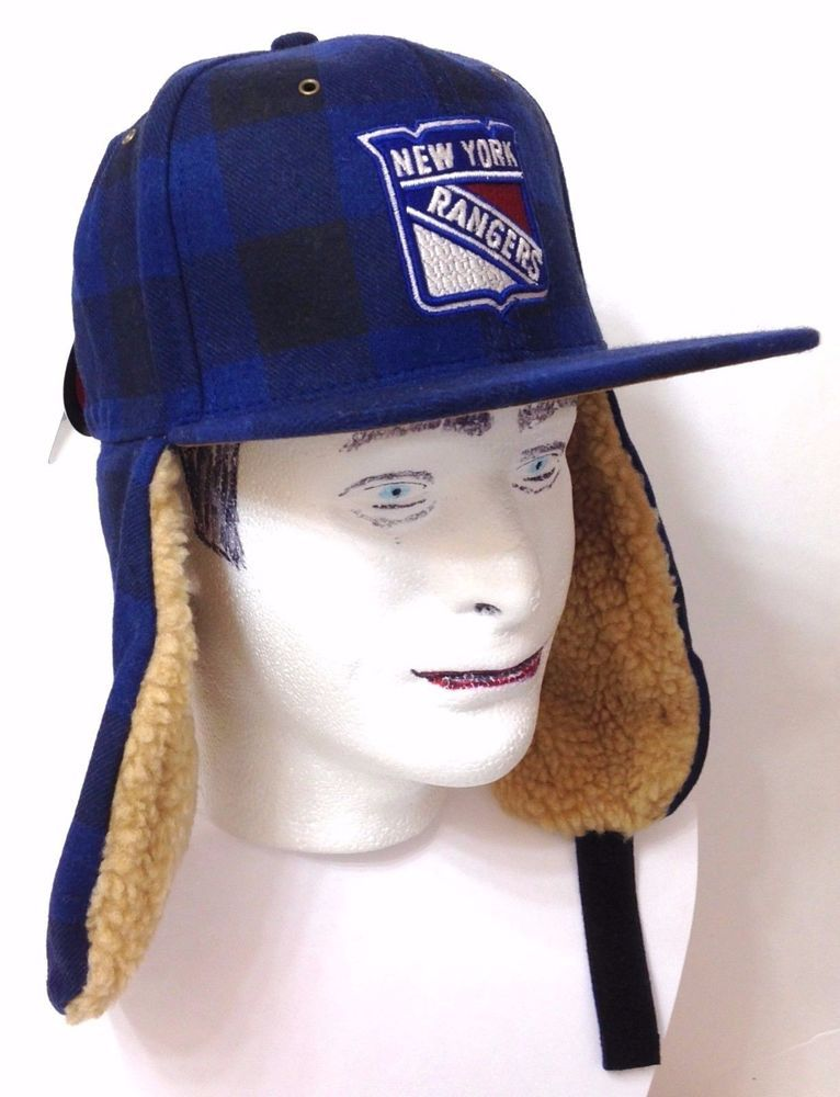 ef47215a395 New 40 NEW YORK RANGERS WINTER TRAPPER HAT Plaid WOOL Ear Flap Mens FITTED  7-1 4  Zephyr  NewYorkRangers