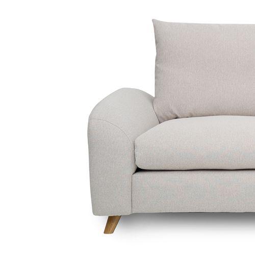 Canapé d´angle gauche en tissu L 265 Nordic Living - Beige   Canapes