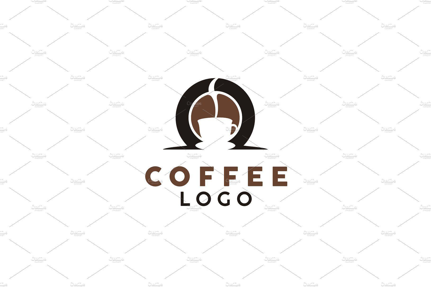 Coffee Bean / Cup logo design logo design coffee drink