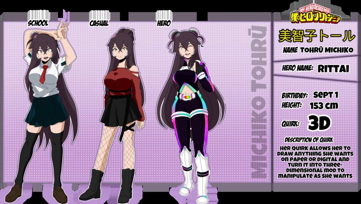 Bnha Oc Tohru Michiko Info By Aisakauchiha333 On Deviantart Hero Costumes Super Hero Costumes Character