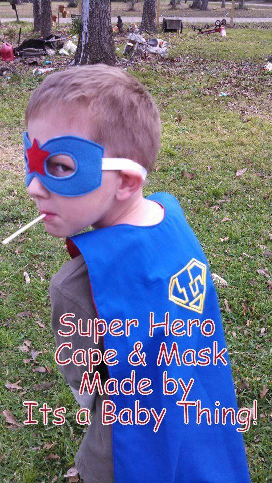 Superhero Cape & Mask by ItsaBabyThing2 on Etsy, $20.00