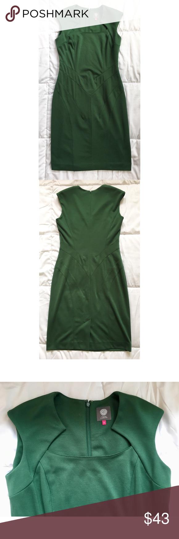 Vince Camuto Queen Anne Neckline Green Dress Green Dress Clothes Design Queen Anne Neckline [ 1740 x 580 Pixel ]