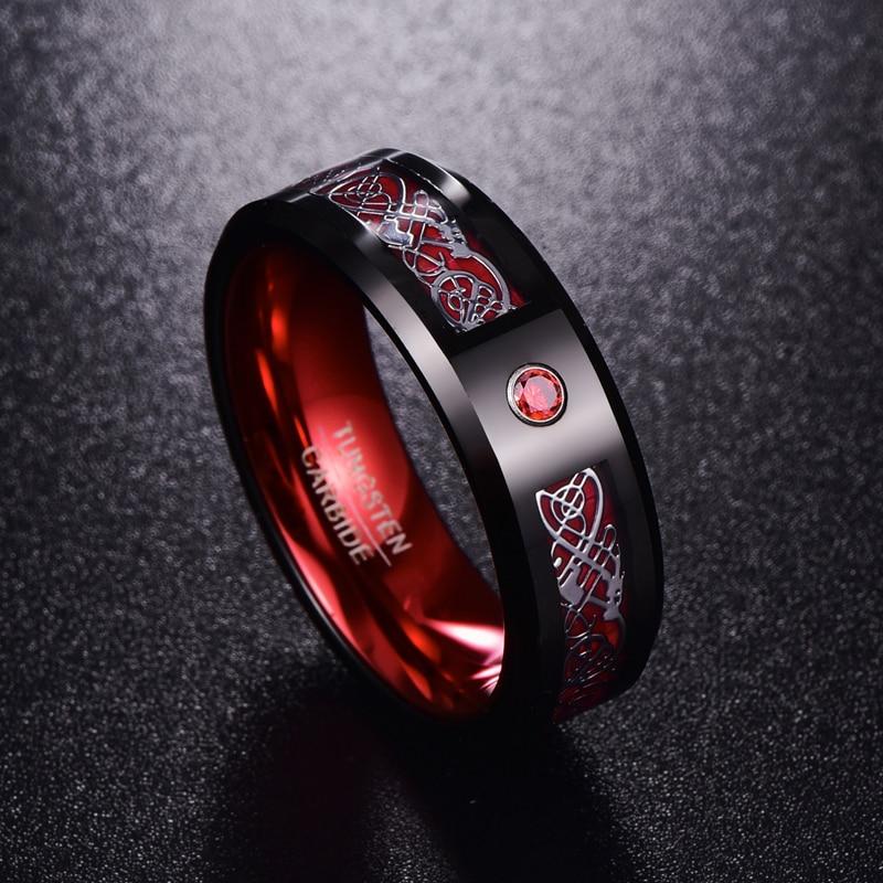 Firestone Dragon's Eye Tungsten Carbide Ring in 2020