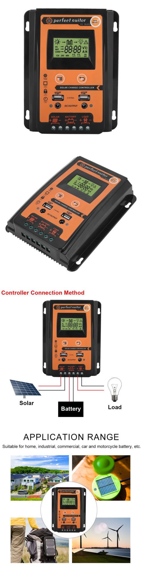 Chargers And Inverters 41980 30a Lcd Mppt Solar Panel Regulator Charge Controller 12 24v Auto Focus Tracking Buy It Now Only Solar Battery Chargers Solar