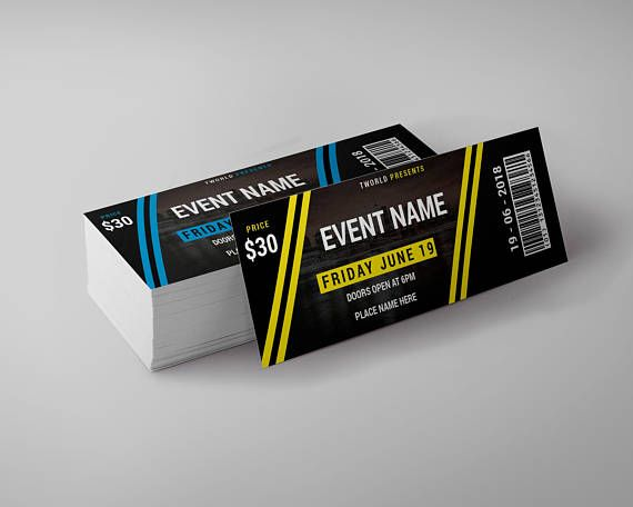tickets design template event ticket party ticket concert