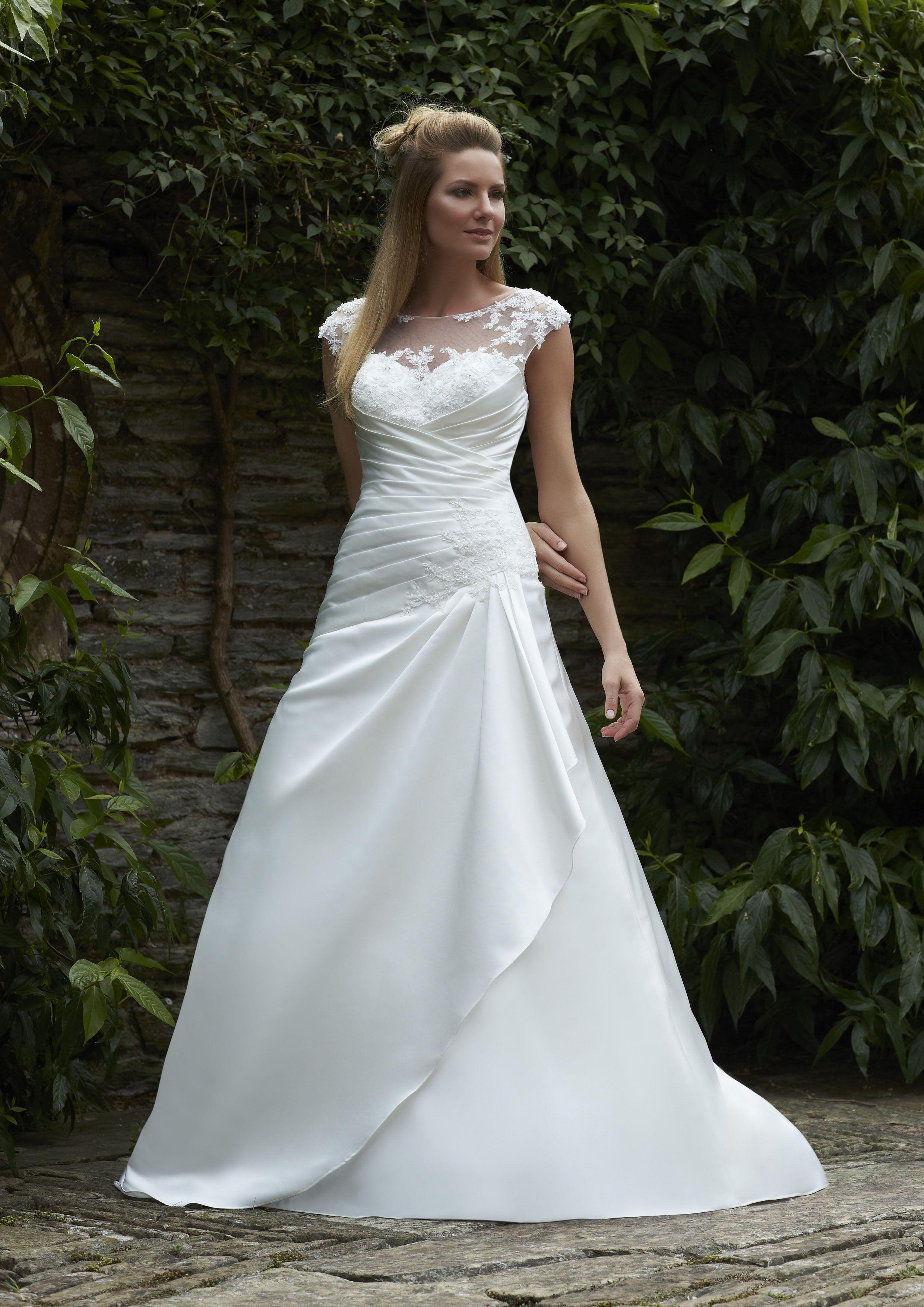 Amari ~ Romantica Bridal 2015 ivory/silver or white/silver, satin ...