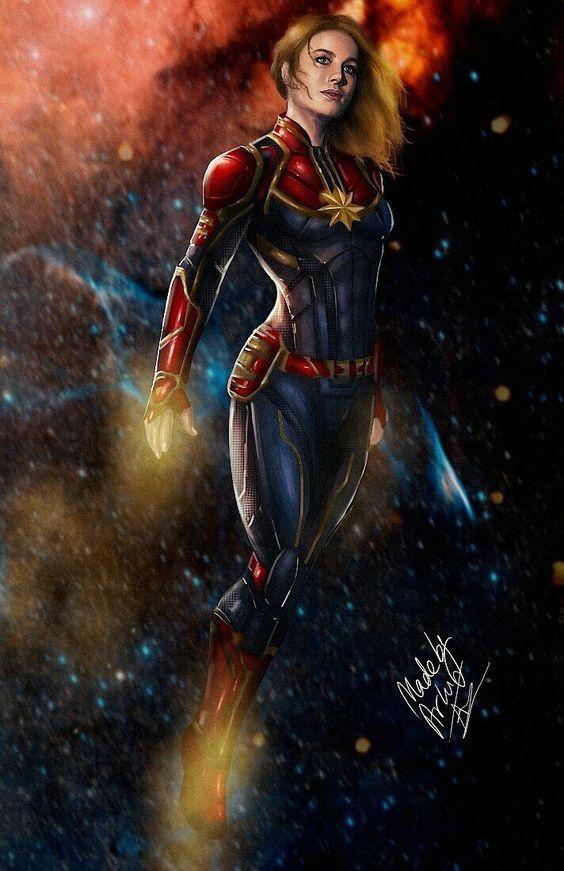 30 Spectacular Images Of Avengers Fanart That Will Blow Your Mind Captain Marvel Cizgi Romanlar Marvel