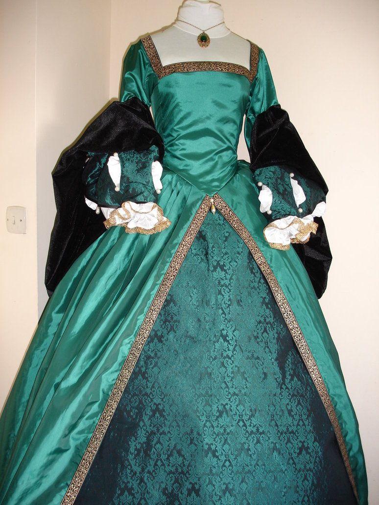 Green Tudor Gown by ZarrinaBull on DeviantArt | Costumes | Pinterest ...