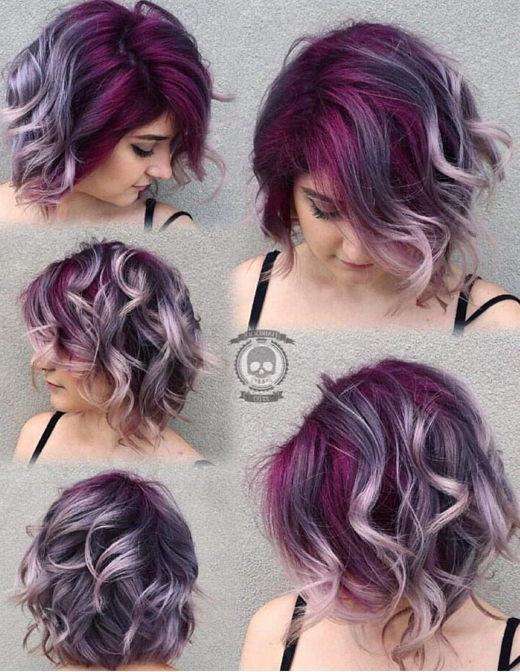 Silver Gray Ombre Hair Color Ideas For Short Hair Managed To Supplant The Burning Red Cold Blue And Extravagant Ombre Hair Color Short Hair Styles Purple Hair
